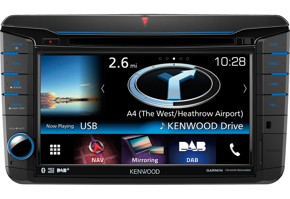 Kenwood Dnx516dabs 2 Din Car Player For Vw Skoda And Seat